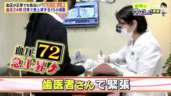 歯医者さんで血圧が上がる?|テレビ朝日 林修の今でしょ!講座(11/21放送)